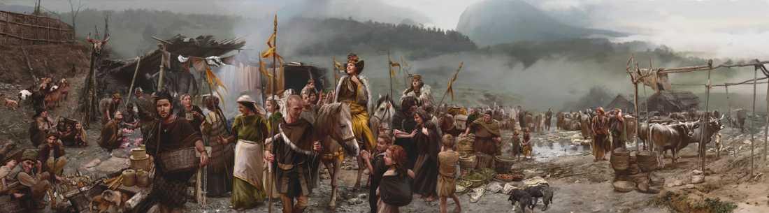 De sociala skillnaderna under bronsåldern var högst påtagliga. Fattiga begravdes i enkla gravar utan några tillhörigheter, medan de rika fick med sig gravgåvor bestående av vapen, smycken och andra utsmyckade bronsföremål.
