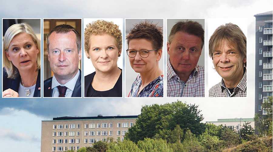 Lösningen för fler bostäder och rimliga hyror som vanligt folk har råd med stavas inte marknadshyror, skriver socialdemokraterna Magdalena Andersson, Anders Ygeman, Karin Wanngård, Ann-Sofie Hermansson, Jan Björklund och Bertil Andersson.