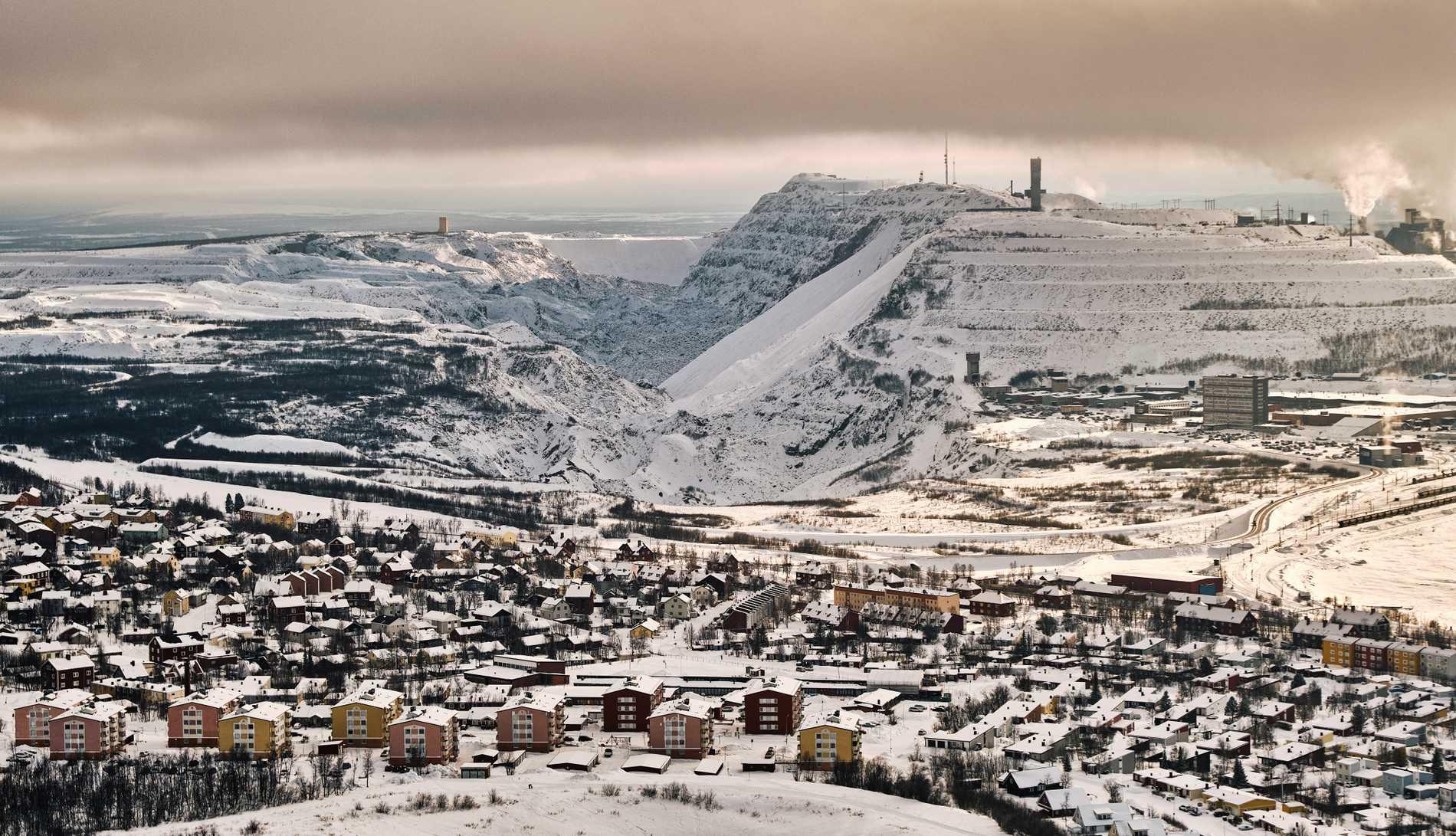LKAB:s gruva ruvar över Kiruna.