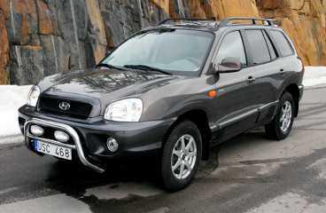 TERRÄNGKÖRNING - Glöm DEt När Rolf Johansson köpte en ny bil valde han stadsjeepen Hyundai Santa Fe för fyrhjulsdriftens skull.