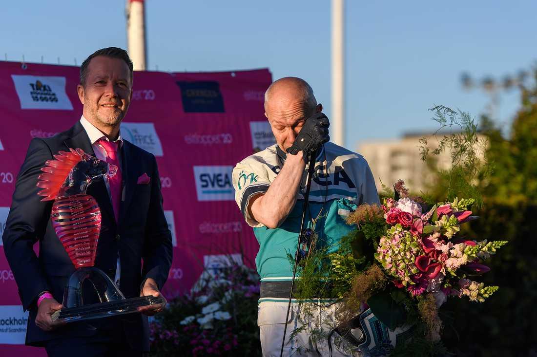 Örjan Kihlströms segertårar efter segern.