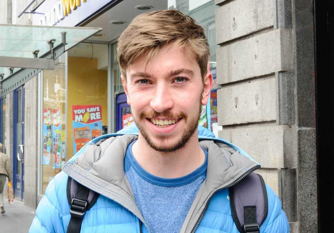"""""""För stor osäkerhet"""" Jamie McDonald tillhör den majoritet i Aberdeen som vill stanna kvar i EU. """"Osäkerheten om vad som skulle hända om vi lämnade är alldeles för stor."""""""