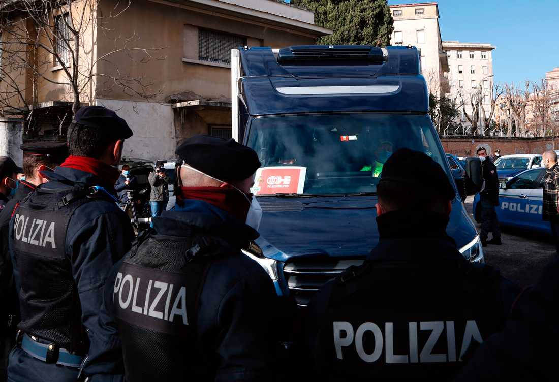 Italiensk polis har gripit en 22-årig högerextrem man. Arkivbild.