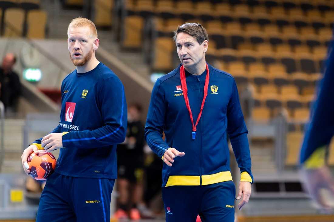 Jim Gottfridsson (t.v.) och förbundskapten Glenn Solberg.