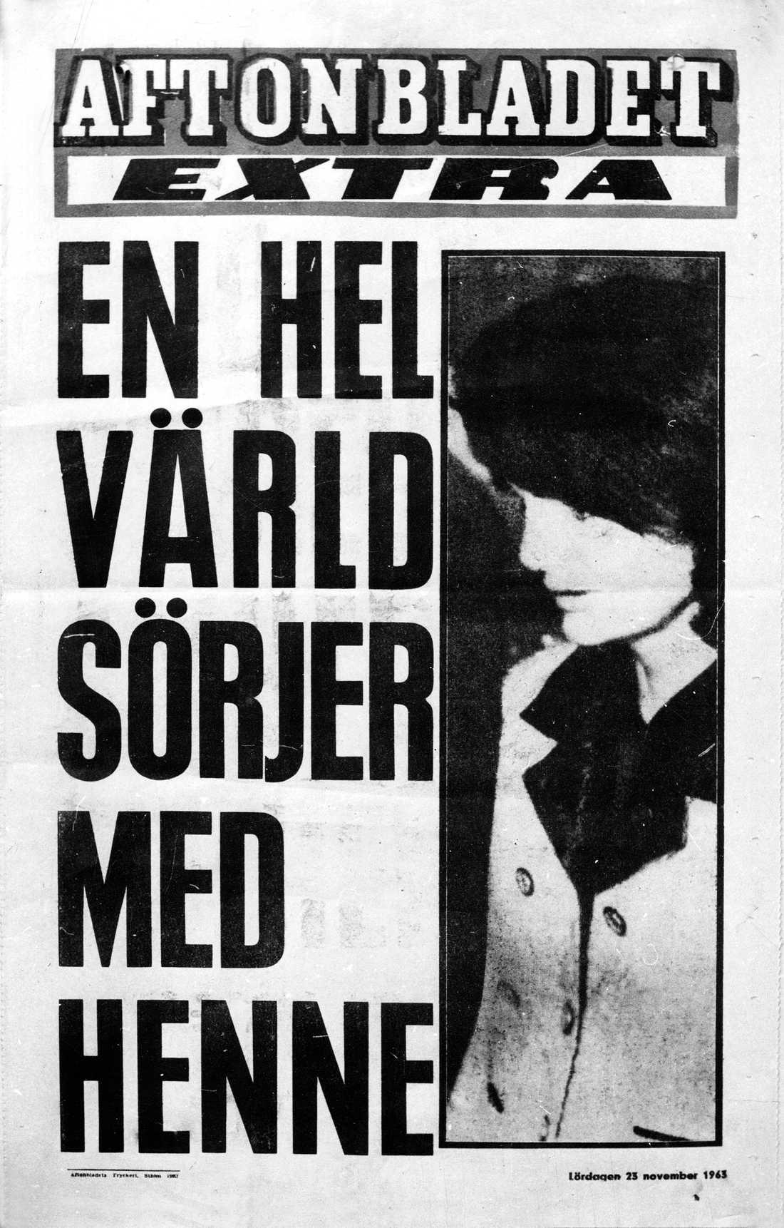 Aftonbladets löpsedel lördagen den 23 november, dagen efter mordet.