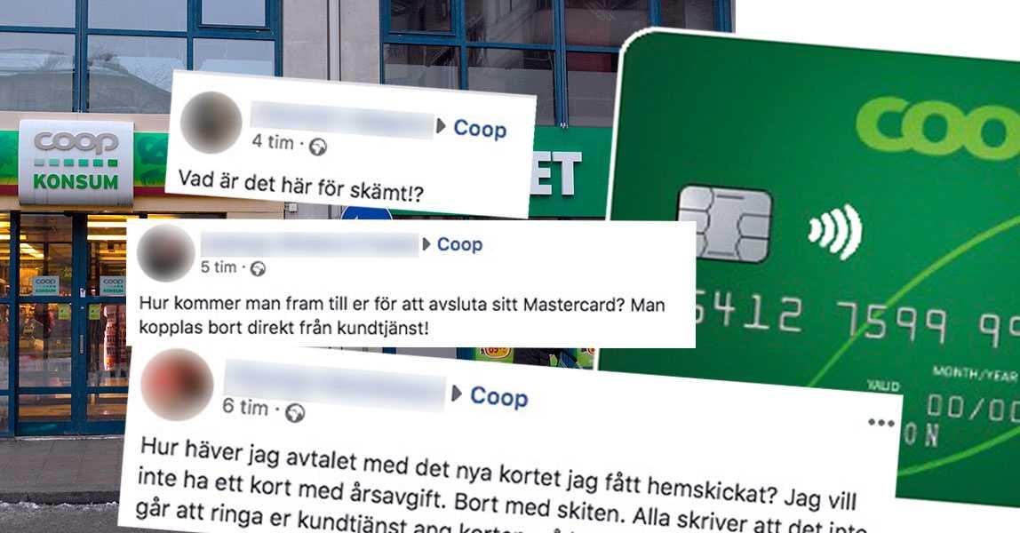 30b8a08463fca7 Coop har bytt kreditkort – flera upprörda över dålig kundtjänst |  Aftonbladet