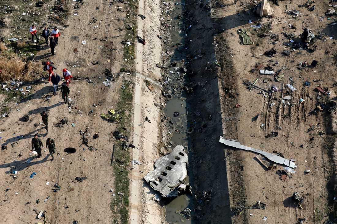 Den 8 januari kraschade ett ukrainskt passagerarplan utanför Teheran i Iran. Iran medgav senare att man skjutit ned planet av misstag. Samtliga ombord omkom. Arkivbild.