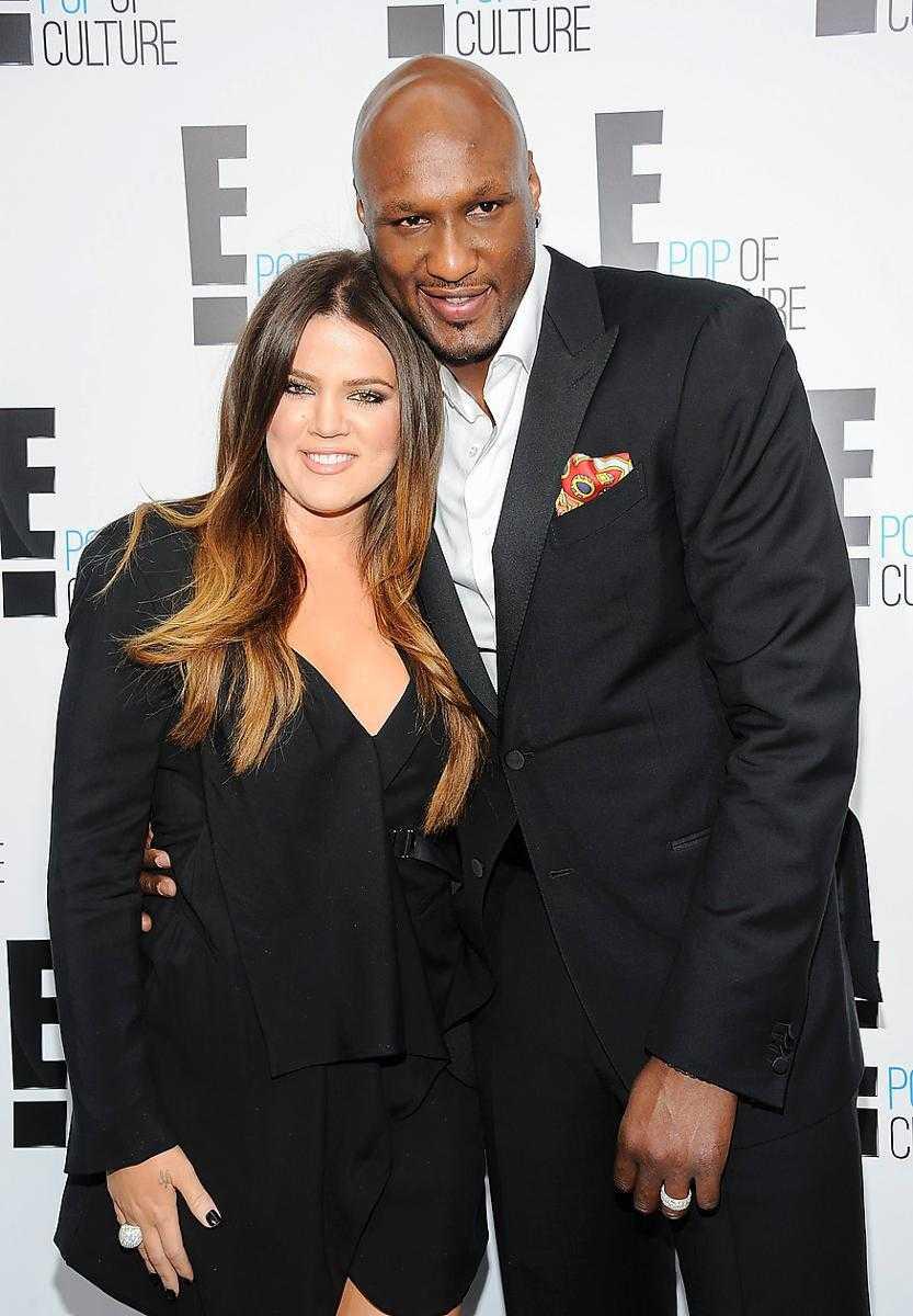 Khloé Kardashian och Lamar Odom.