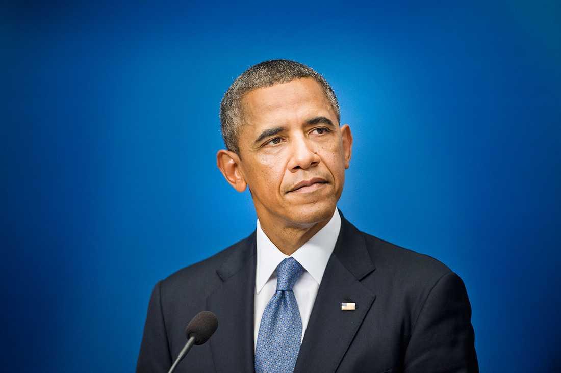 TRENDSÄTTARE Obama med sin så kallade Four-in-hand-slipsknut.