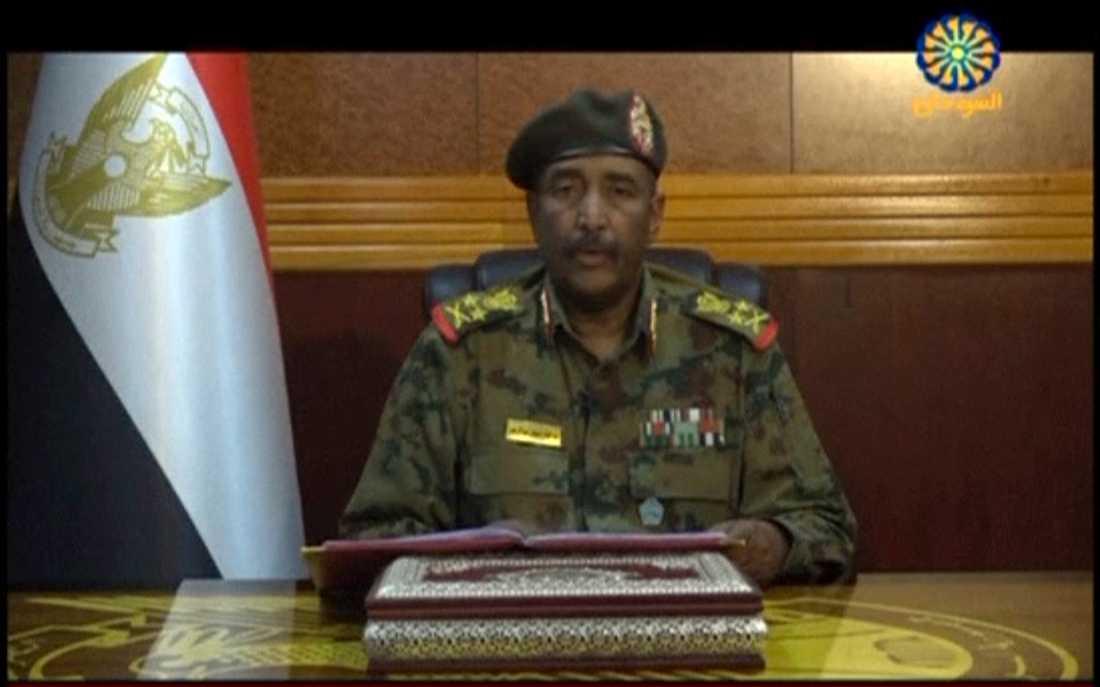 Den sudanesiska militärjuntans ledare, generallöjtnant Abd al-Fattah Burhan. Arkivbild.