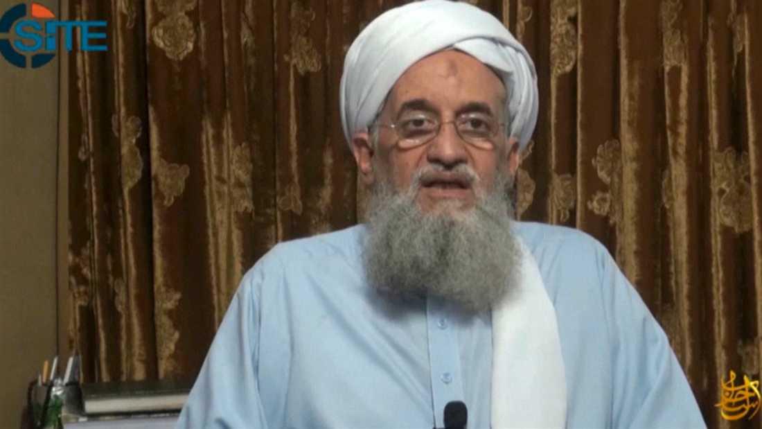 Ayman al-Zawahri i en video som publicerades av terrorrörelsen al-Qaida 2014. Arkivbild.