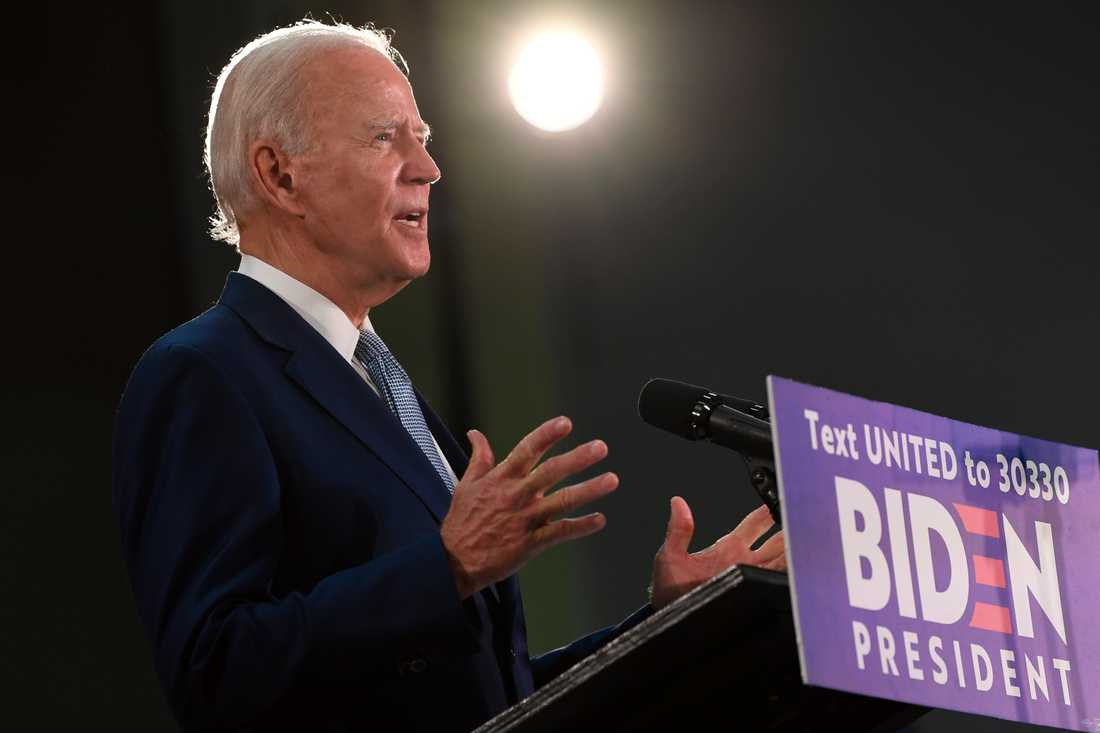 Den tidigare vicepresidenten Joe Biden, som med all sannolikhet utses till Demokraternas presidentkandidat inför höstens USA-val.