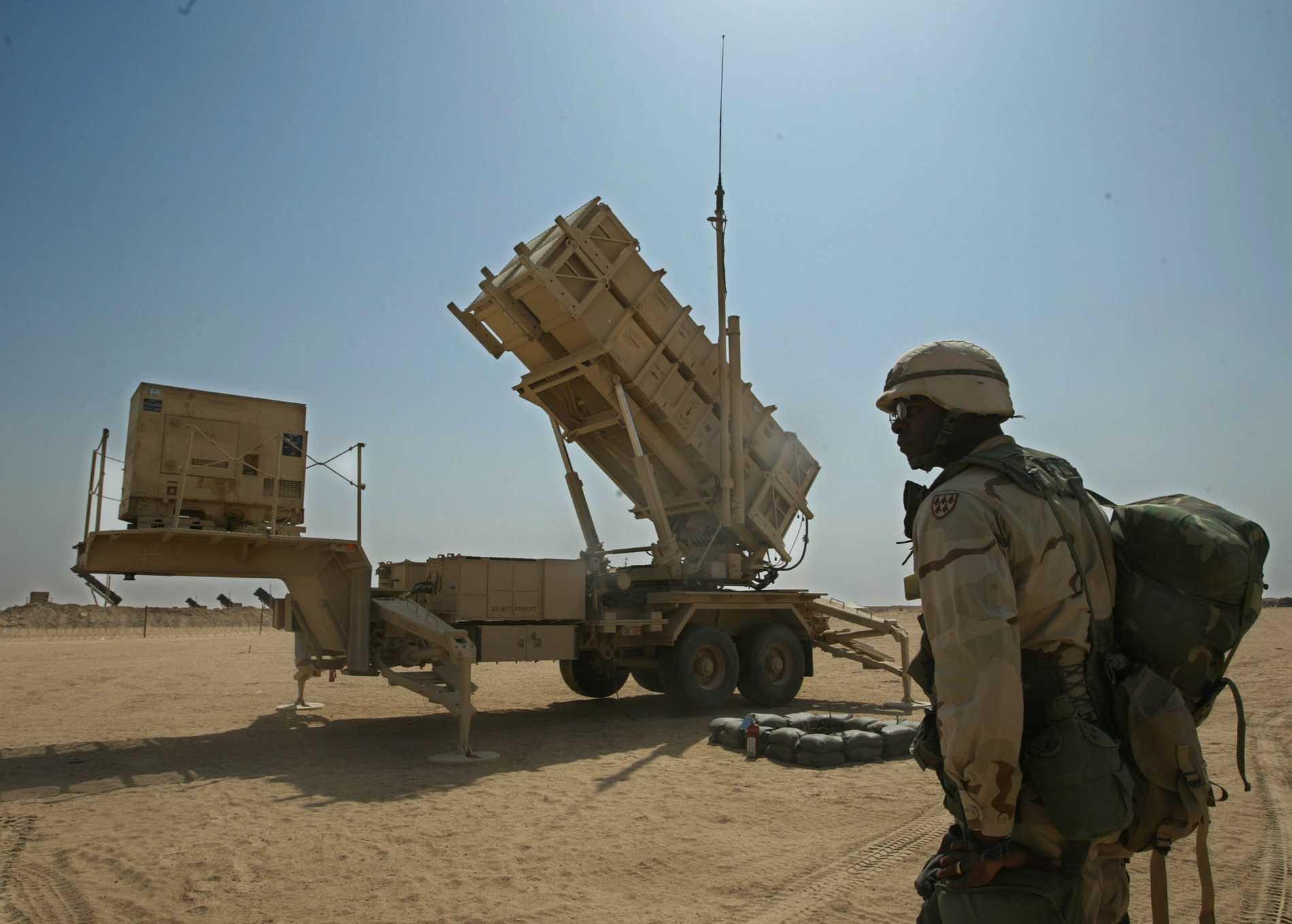 Ett Patriot-luftvärnsrobotssystem i Kuwait. Arkivbild.