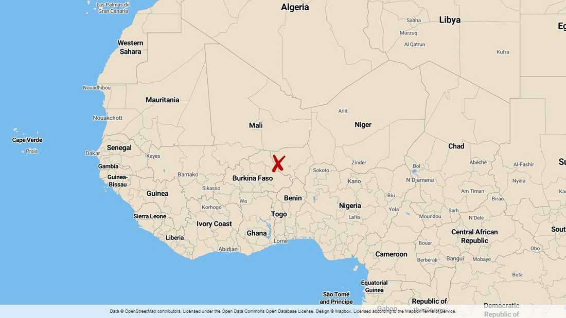 Tillaberiregionen i Niger där 71 soldater dödades i en attack i måndags.