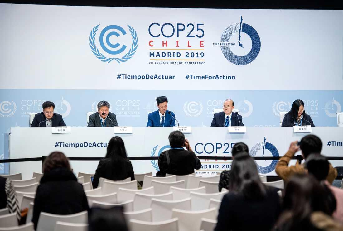 Kinas ansvar i klimatfrågan debatteras under klimattoppmötet i Madrid.