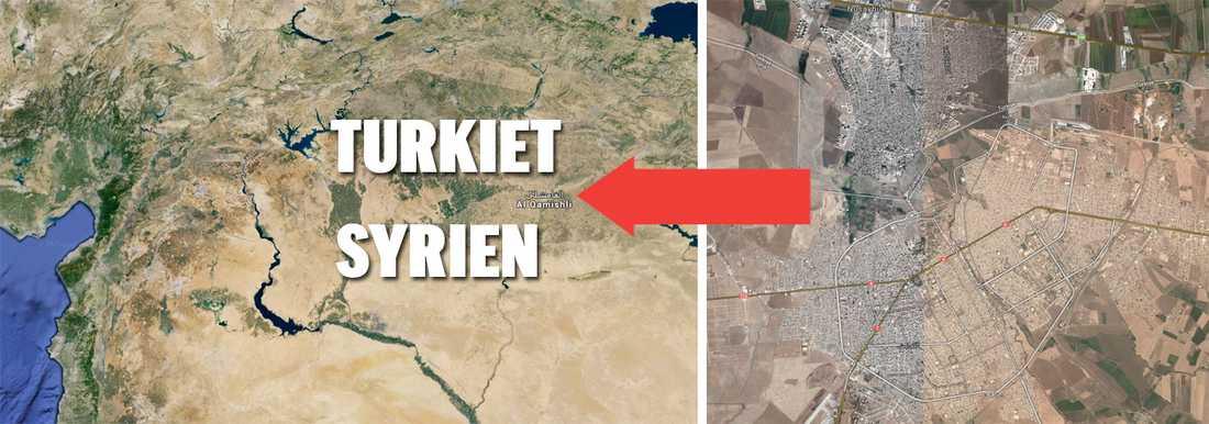 Staden svenske journalisten har gripits i ligger precis på gränsen mellan Syrien och Turkiet. På lördagskvällen blev han frisläppt.