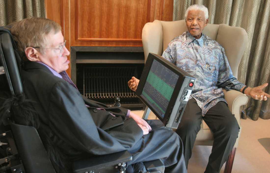 Hawking och Mandela 2008.