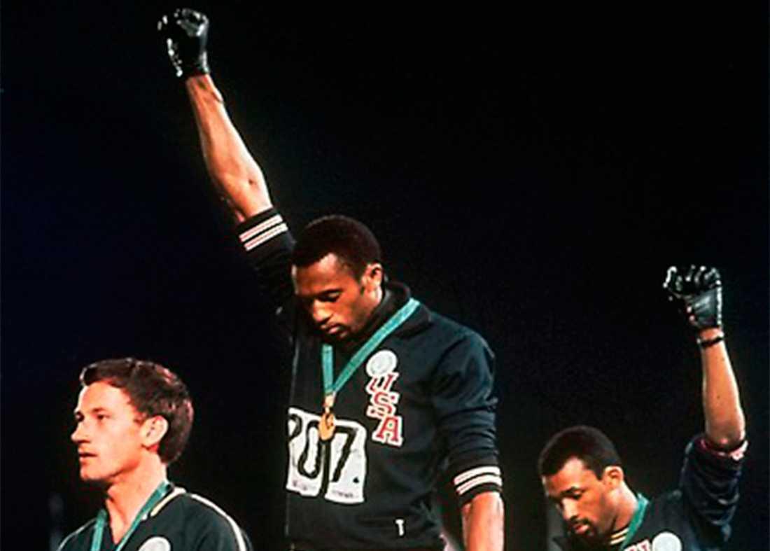 Svarta Panter-protesten vid OS i Mexico City 1968.
