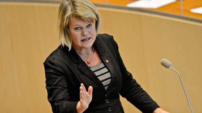 Vänsterns ekonomiskpolitiske talespersonen Ulla Andersson (V).