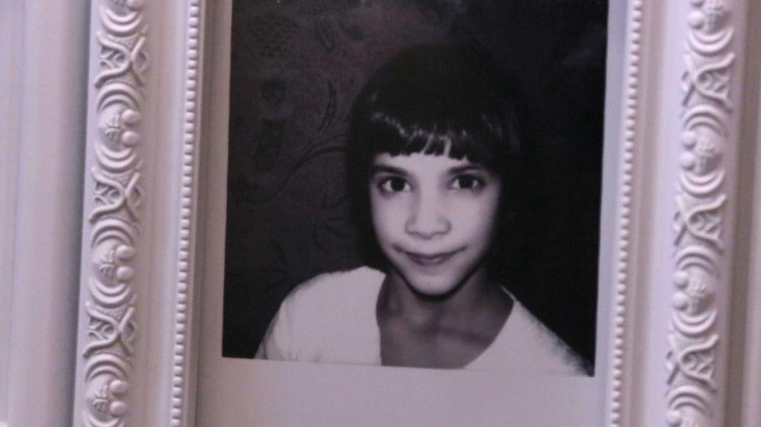 Ovanför Gita Rajans skrivbord på Wonsa hänger en bild på henne från när hon var 11 år. – Det här är min uppdragsgivare, säger Gita Rajan.