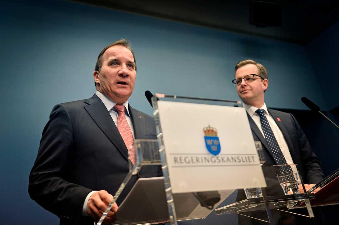 Statsminister Stefan Löfven har gett näringsminister Mikael Damberg uppdraget att skaffa fler enkla jobb. Foto: Stefan Mattsson