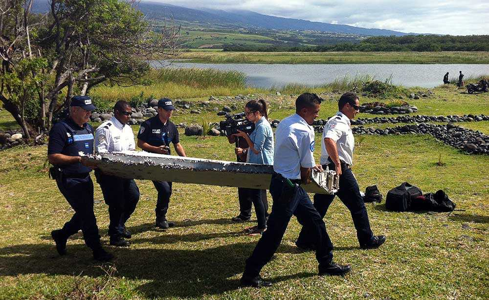 30 juli 2015 hittades en del av vad som senare visade sig vara MH370 på Reunion utanför Madagaskar.