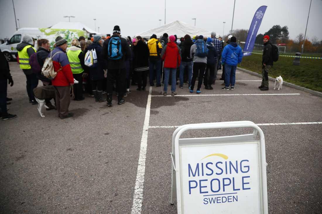 Frivilligorganisationen Missing People hjälper anhöriga och polisen i arbetet med att söka efter försvunna personer. Arkivbild.