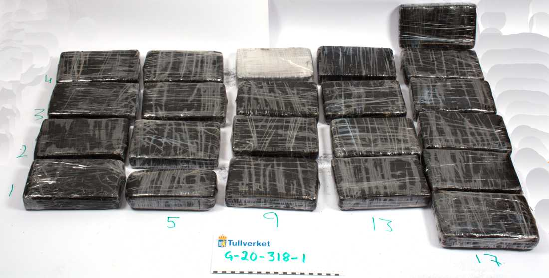 Kokain som beslagtogs i Uddevalla i mars förra året. Arkivbild.