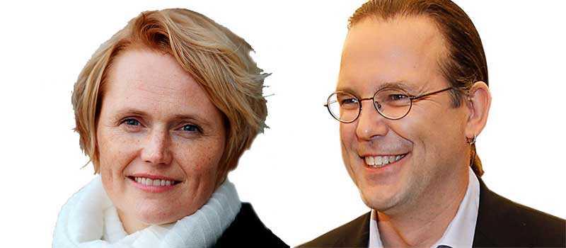 Anna-Karin Hatt, IT- och regionsminister (C) och Anders Borg, finansminister (M). Bilden är ett montage.
