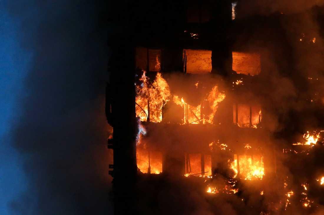 Det är ännu inte känt hur många människor som dödades i storbranden.