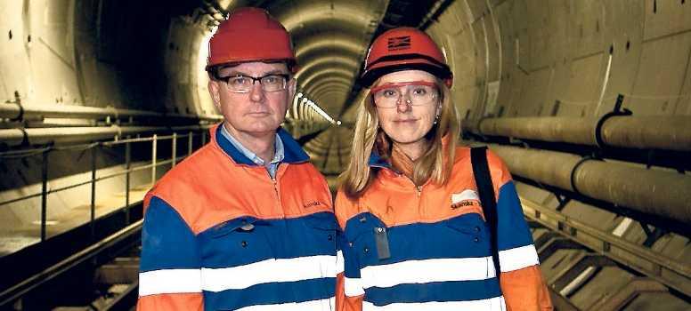 Aftonbladets Peter Kadhammar och Lotte Fernwall.