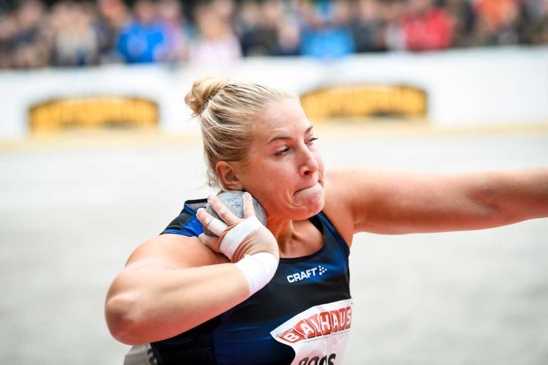 Fanny Roos slog till med svenskt rekord i kula. Arkivbild.