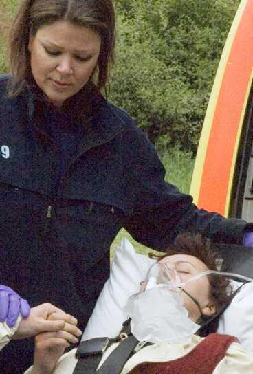 Marielle Blid Barret och 12 andra deltagare fick akut vård på sjukhus.