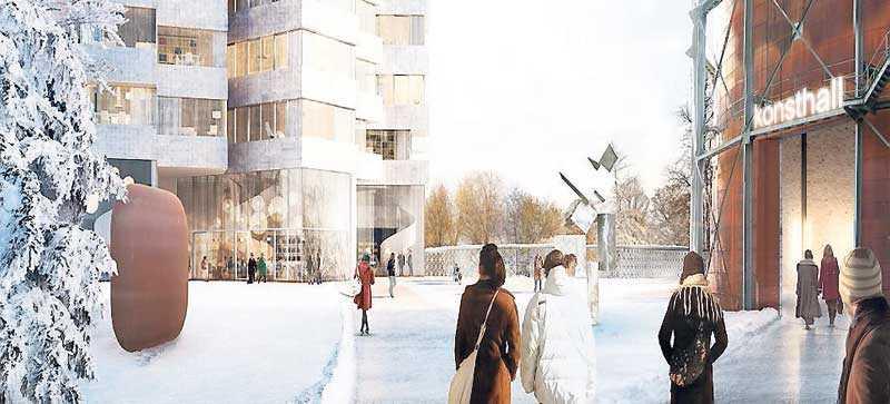 Den nya stadsdelen – i arkitekternas drömvärld.