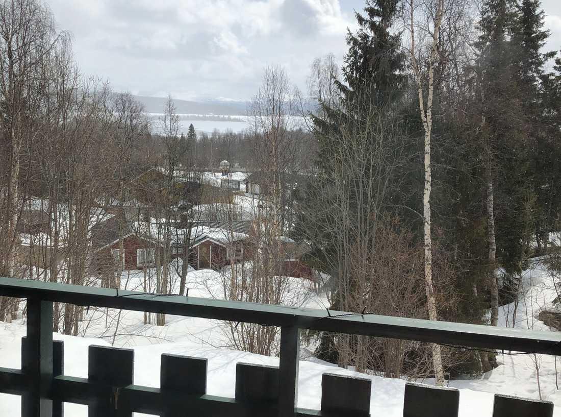 """Läsaren Ann tog den här bilden från Tärnaby: """"Här har det snöat i princip varje dag hela året och det verkar inte som om det kommer att sluta än."""""""
