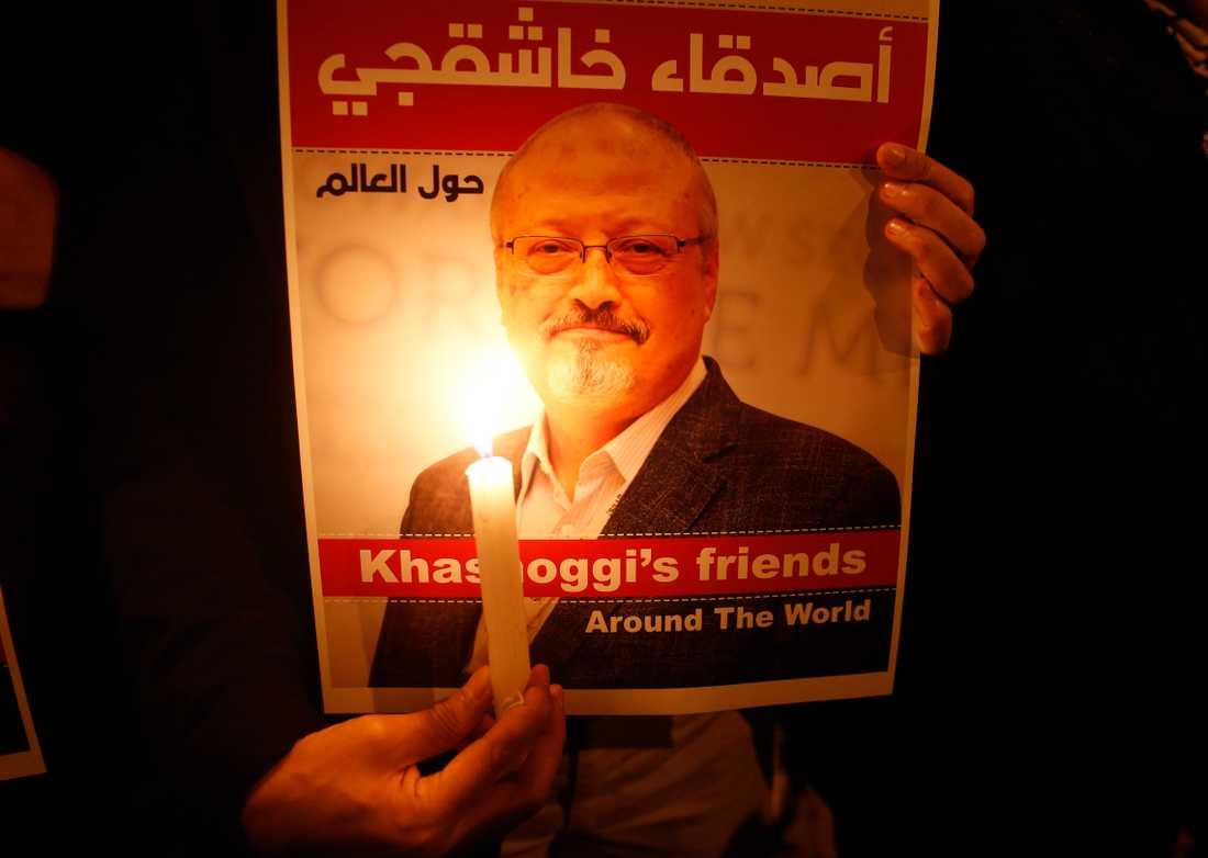 Den saudiska journalisten Jamal Khashoggi dödades i höstas på det saudiska konsulatet i Istanbul, Turkiet. Arkivbild.
