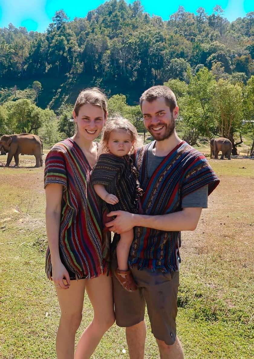 Familjen i favoritdestinationen Chiang Mai.