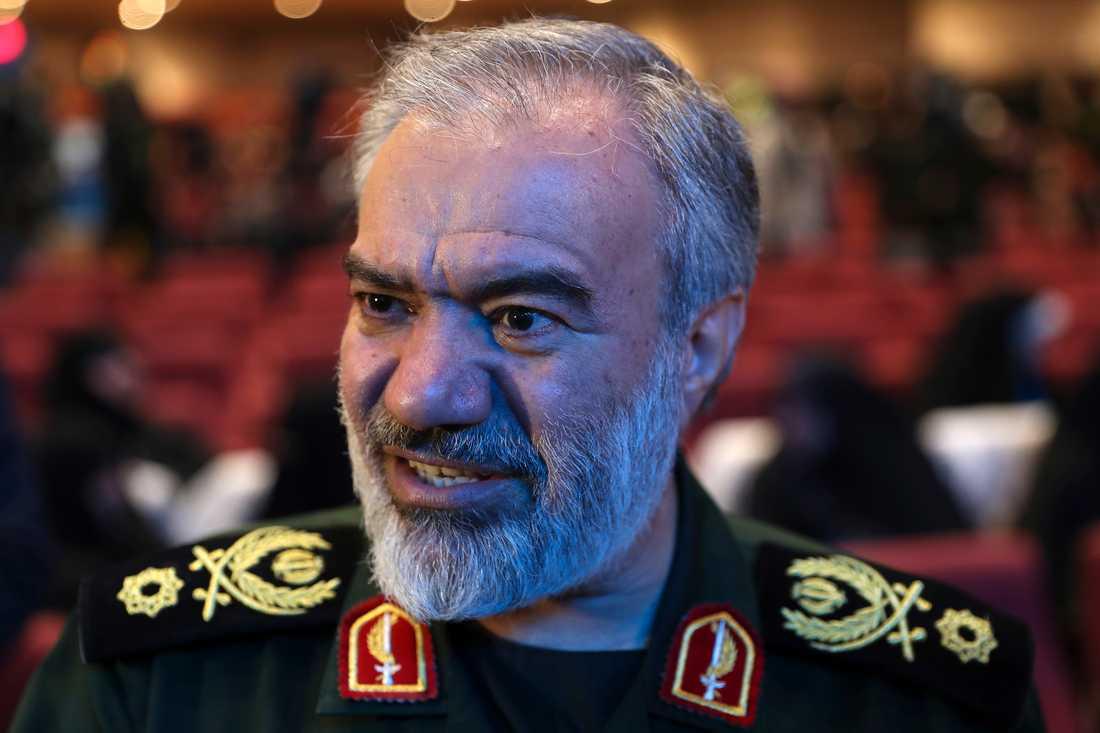 Konteramiral Ali Fadavi är ställföreträdande chef för det iranska revolutionsgardet. Arkivbild.