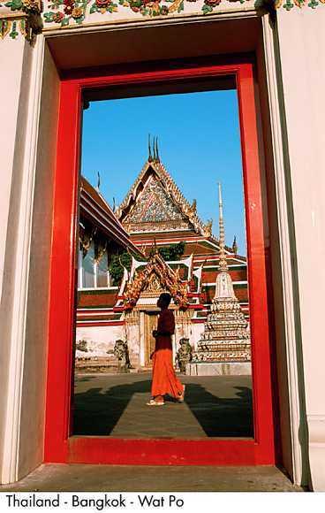 Spirande lugn i Bangkok.