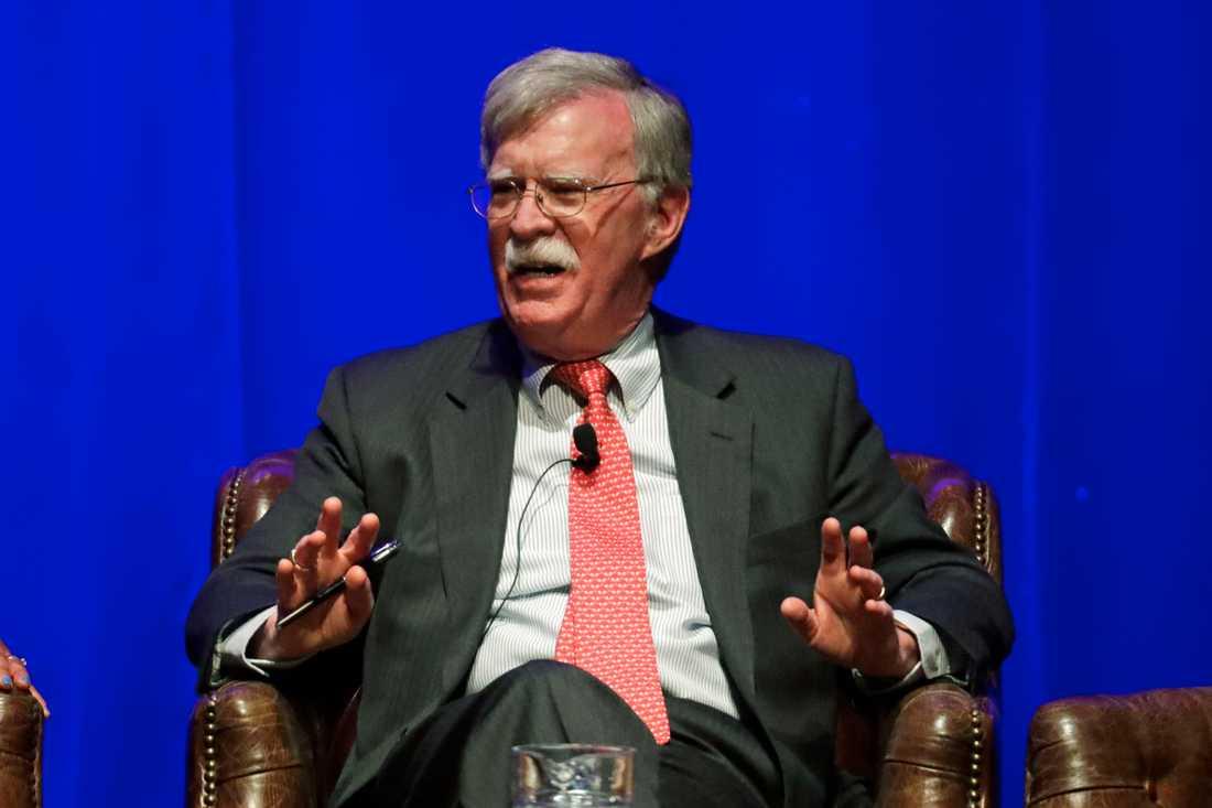 Den tidigare nationelle säkerhetsrådgivaren John Bolton. Arkivbild.