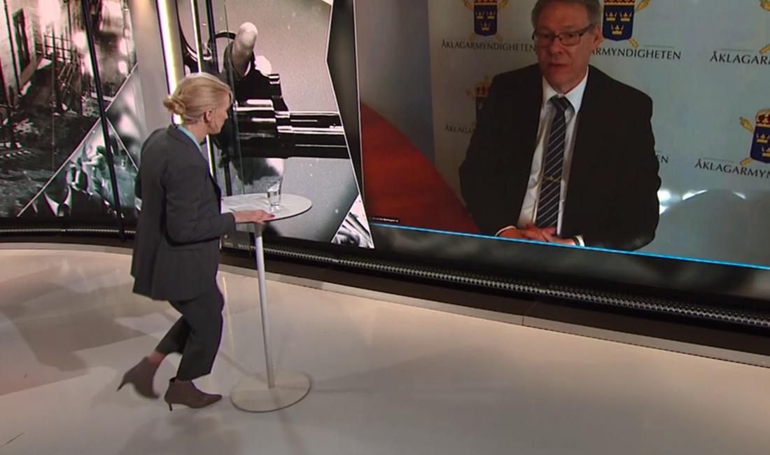 Programledaren föll ihop under intervjun med Krister Petersson.