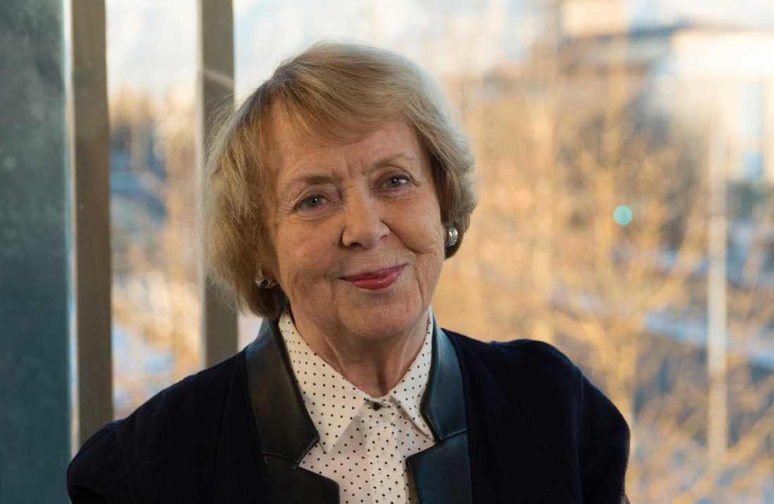 40 år har gått sedan Vigdís Finnbogadóttir – världens första demokratiskt valda statsöverhuvud – tillträdde som Islands president. Arkivbild.