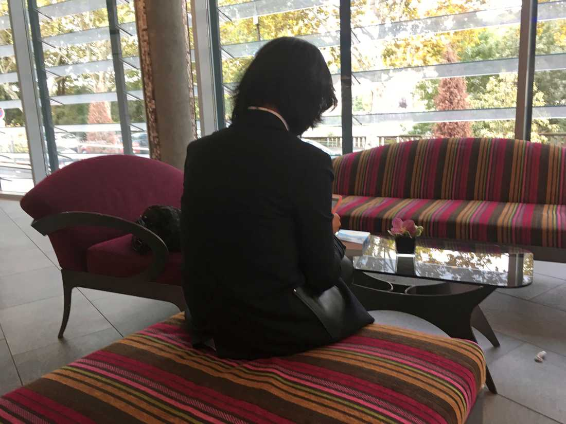 Grace Meng, som inte vill visa sitt ansikte, på en bild från oktober i fjol.