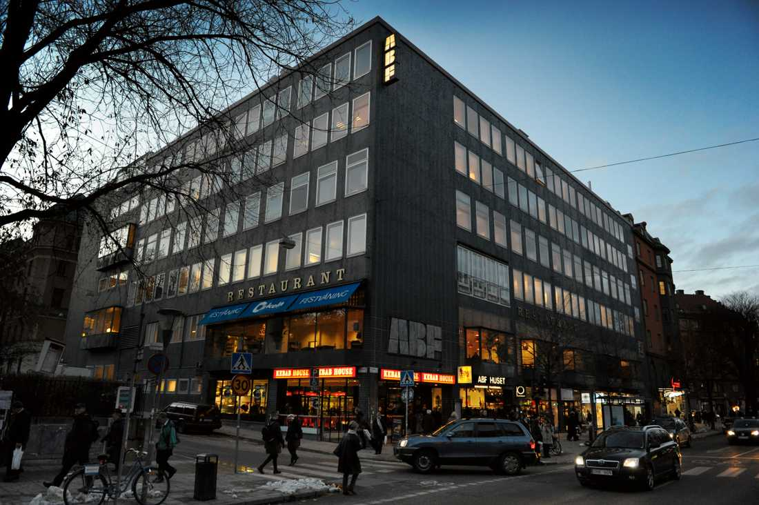 Här ska museet ligga! ABF-huset på Sveavägen i Stockholm