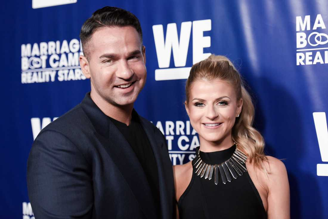 """Mike """"The Situation"""" Sorrentino och Lauren Pesce Sorrentino."""
