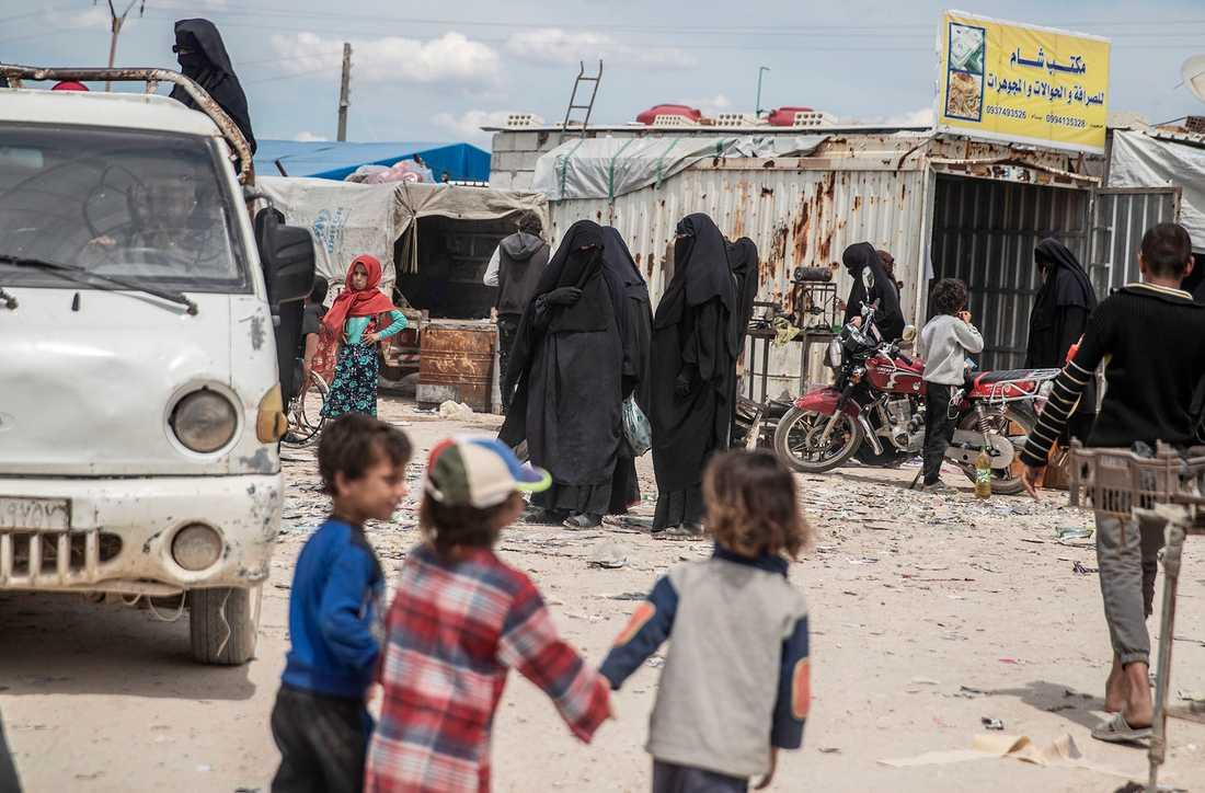 Lägret al-Hol i Syrien.