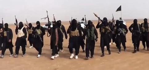 Trupper från terrororganisationen IS.