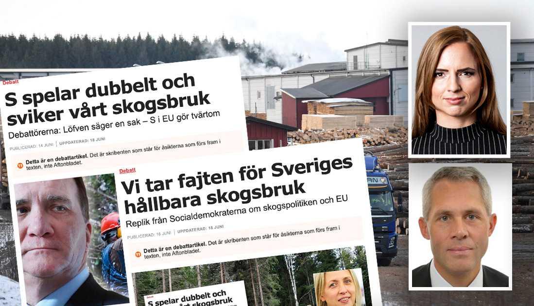 Att Socialdemokraterna ställer sig bakom ett betänkande från Europaparlamentet som i princip uppmanar EU-kommissionen att centralisera hela skogspolitiken till EU är häpnadsväckande, säger Sara Skyttedal och Kjell-Arne Ottosson, KD.
