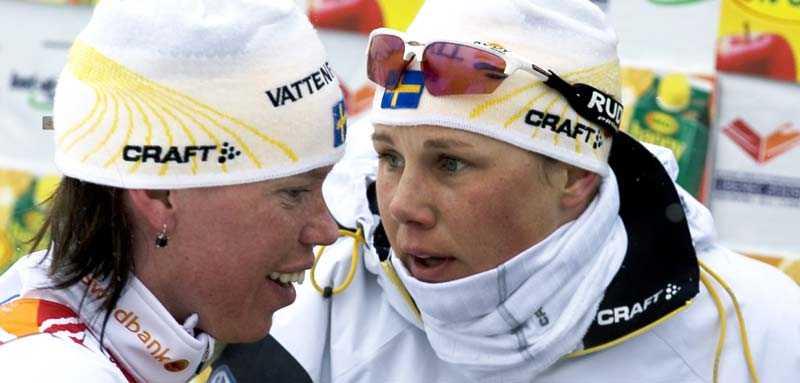 Lina Andersson och Anna Olsson (th) – silverhjältar för Sverige i dag.