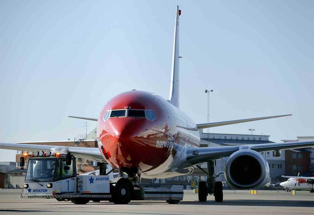 En Boeing 737-800 tillhörande Norwegian.